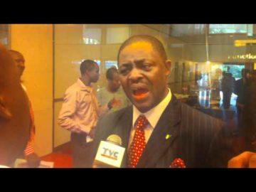 Chief Femi Fani-Kayode gives television interview during Nigerian Political Summit .MOV