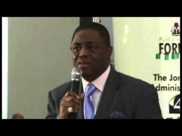 Chief Femi Fani-Kayode speaks at Presidential retreat Abuja