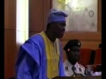 CHIEF FEMI FANI KAYODE AT THE SENATE MINISTERIAL SCREENING   2006 Pt 8.flv