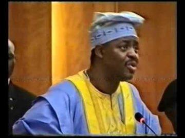 CHIEF FEMI FANI KAYODE AT THE SENATE MINISTERIAL SCREENING   2006 Pt 4