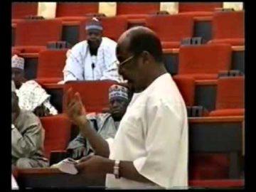 CHIEF FEMI FANI KAYODE AT THE SENATE MINISTERIAL SCREENING   2006 Pt 5