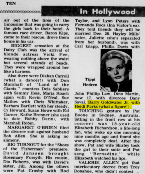 "New Castle News 11/27/68 ""Shoes of the Fisherman"" Premiere. From Heidi Parks personal collection."