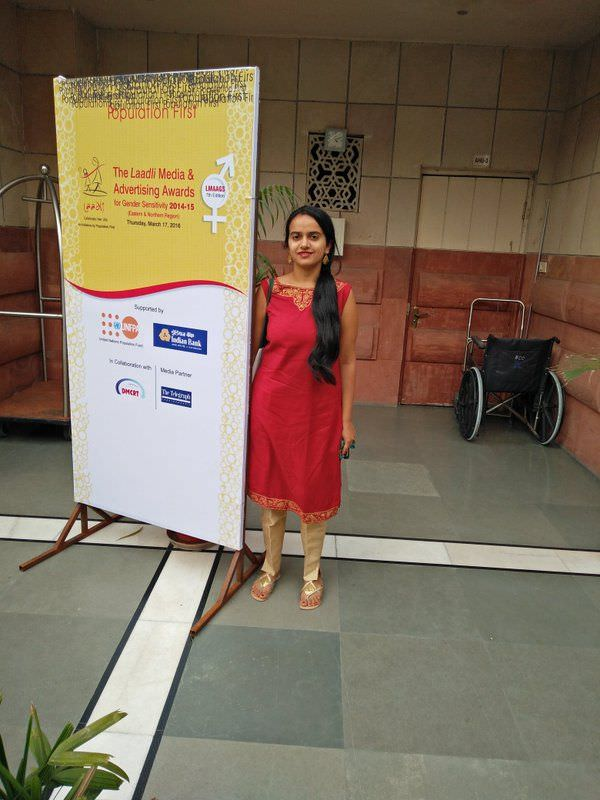 Founder Japleen Pasricha at the Laadli award ceremony