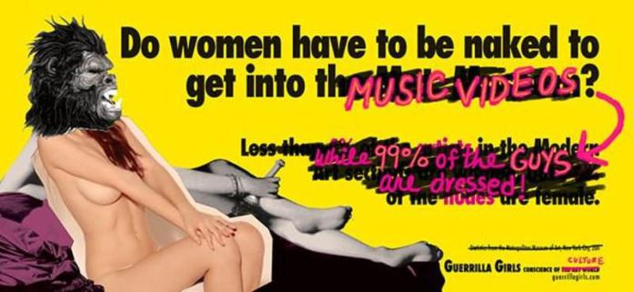 A poster by Guerrilla Girls (Photo courtesy: guerrillagirls.com)