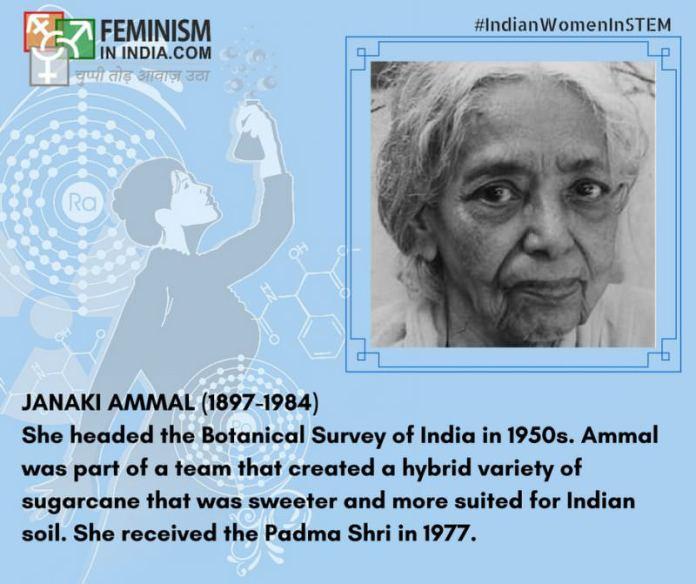 2. Janaki Ammal (1897-1984)