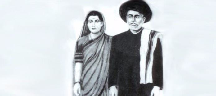 Savitribai Phule and Jyotirao Phule. Image courtesy: drambedkarbooks.com
