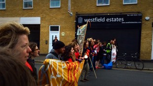 Feminist Fightback's Pro-Choice Action in Stratford, London 9th May 2015