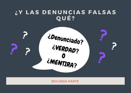 ¿Y las denuncias falsas qué? ( Parte 2)