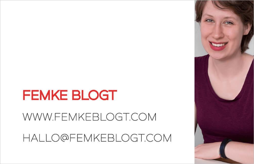 femke blogt eigen visitekaartje