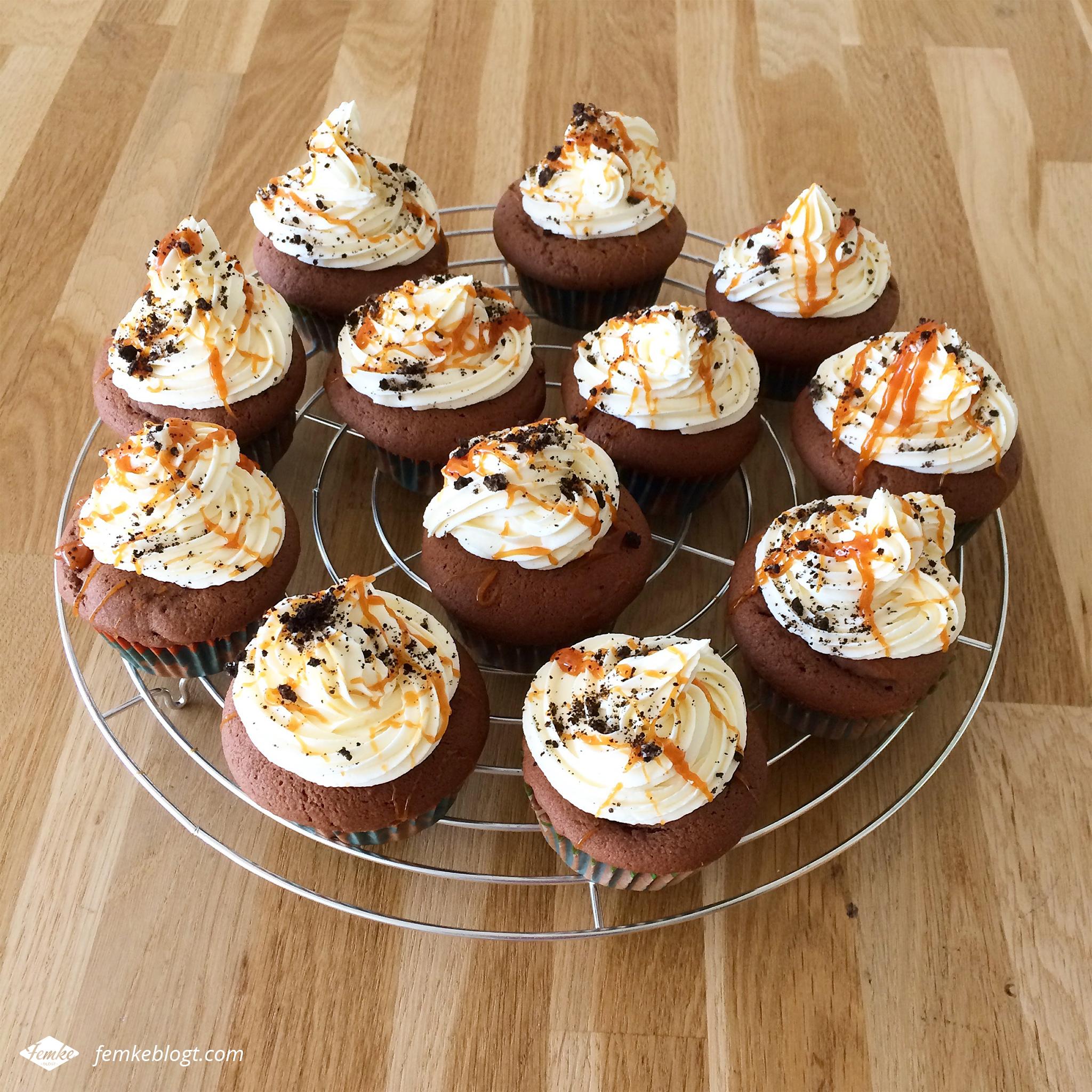 Oktober - Salted caramel cookie cupcakes, Dr. Oetker zondag bakdag
