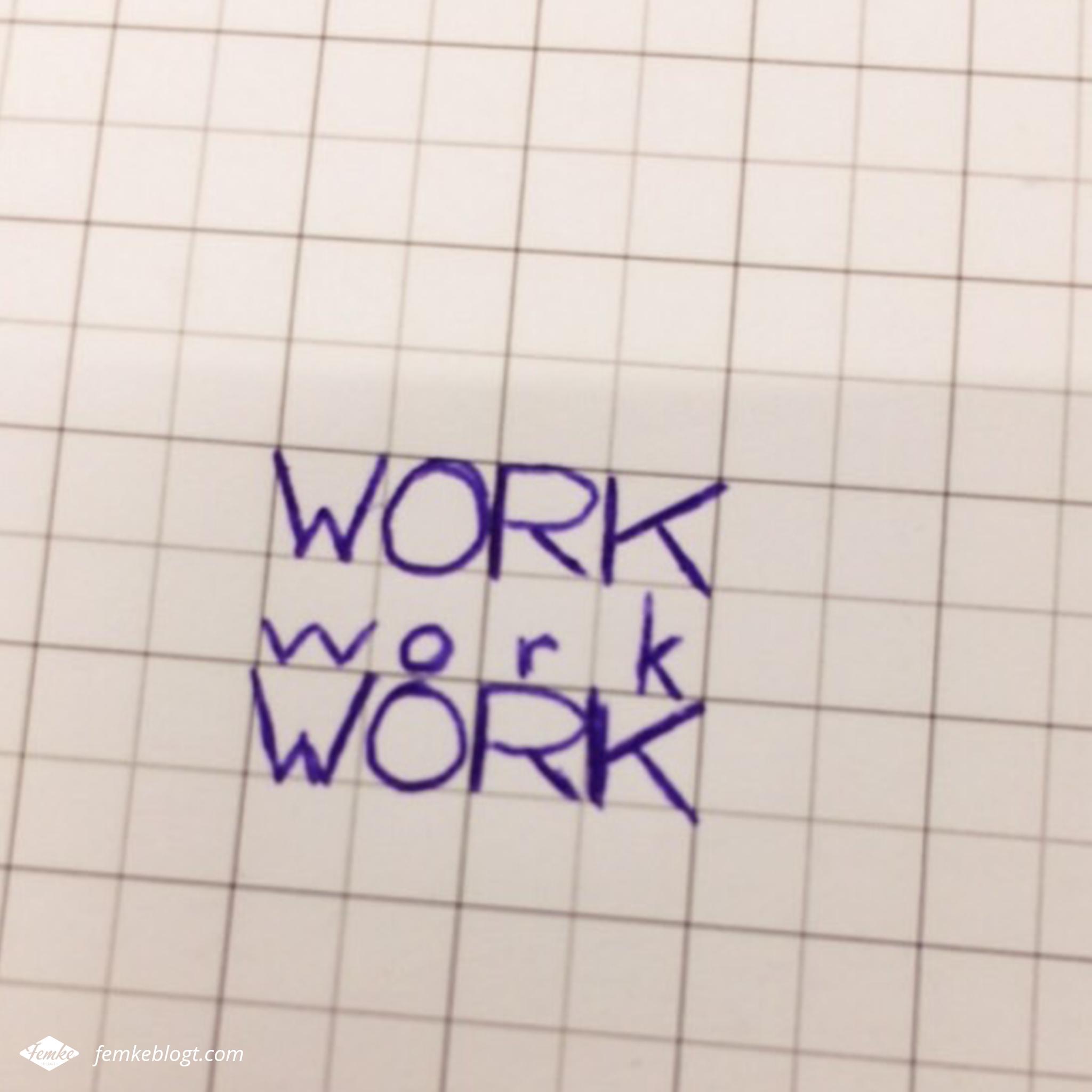 Oktober - Work work work