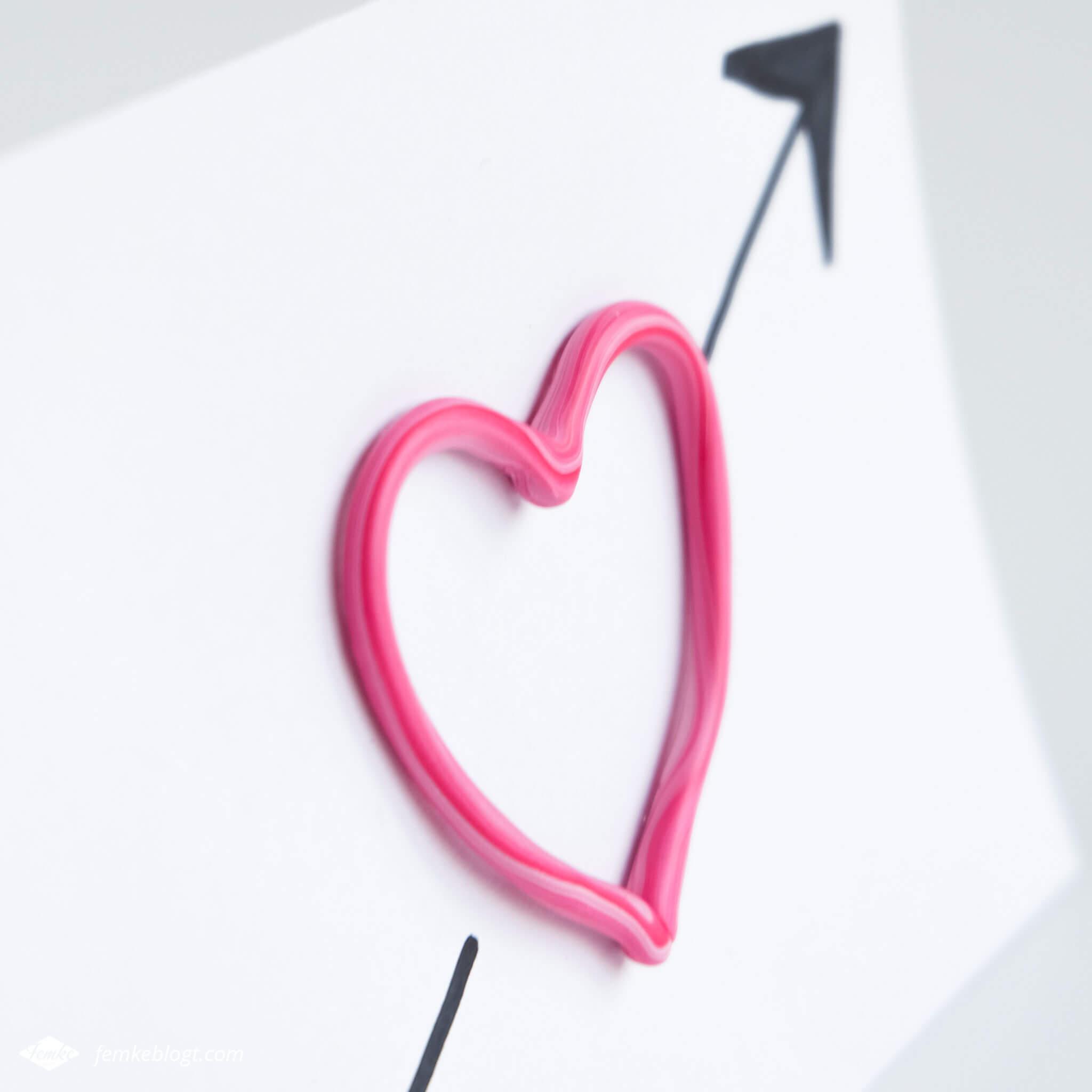 DIY valentijnshartjes van FIMO klei | Maak een Valentijnskaartje met 3D hart van FIMO klei