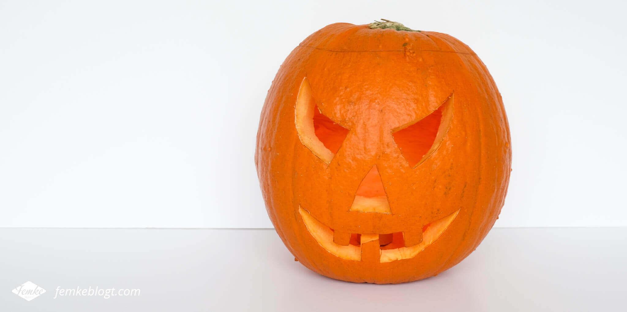 DIY Halloween decoratie   Uitgeholde pompoen