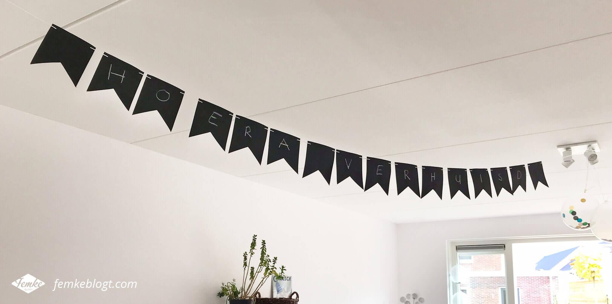 Onze housewarming | Op deze krijtslinger zet je makkelijk een nieuwe boodschap voor elk feest!