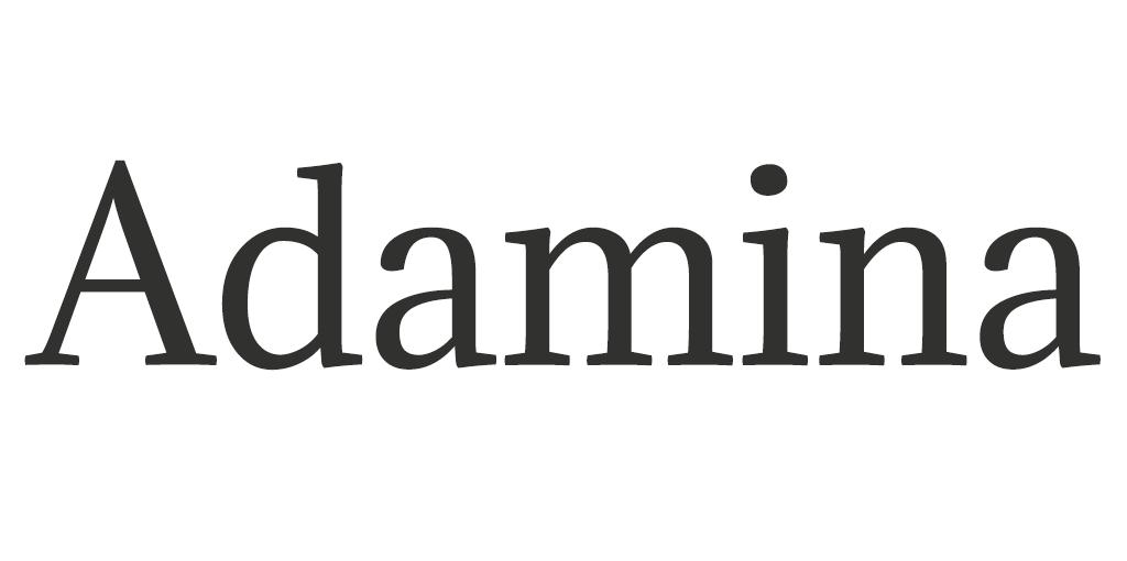 Klassiek lettertype - Adamina