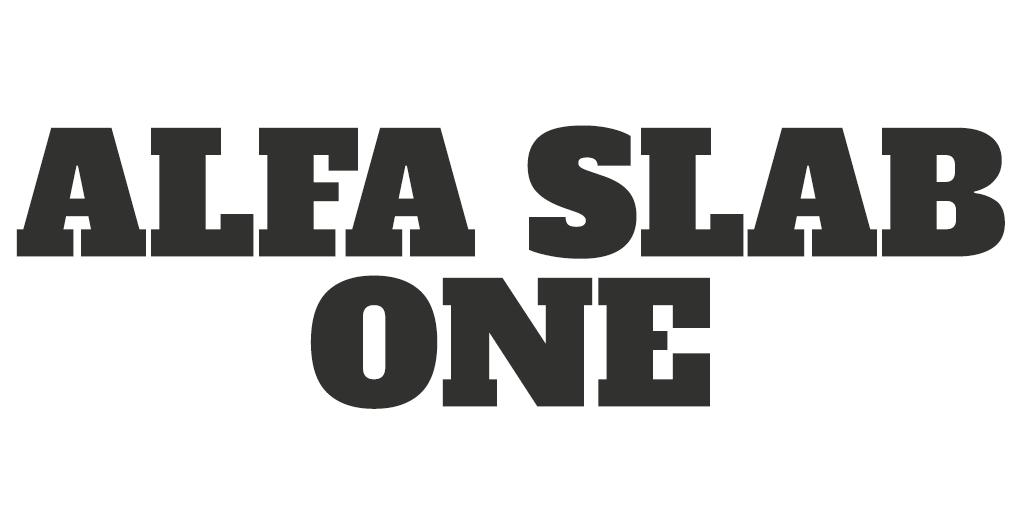 Mannelijk lettertype - Alfa Slab One
