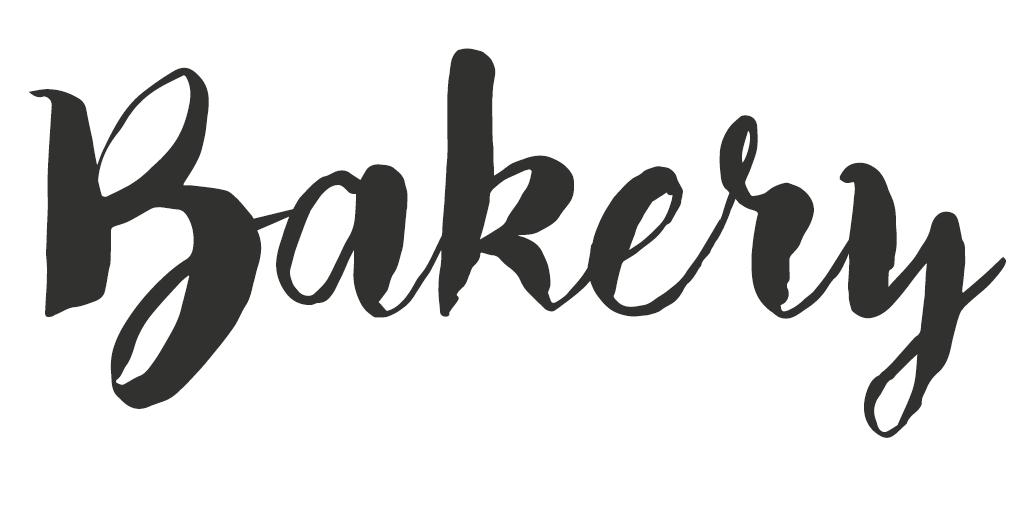 Vintage/Retro lettertype - Bakery