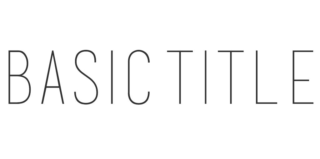 Minimalistisch lettertype - Basic Title