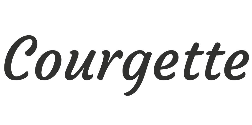 Vrouwelijk lettertype - Courgette