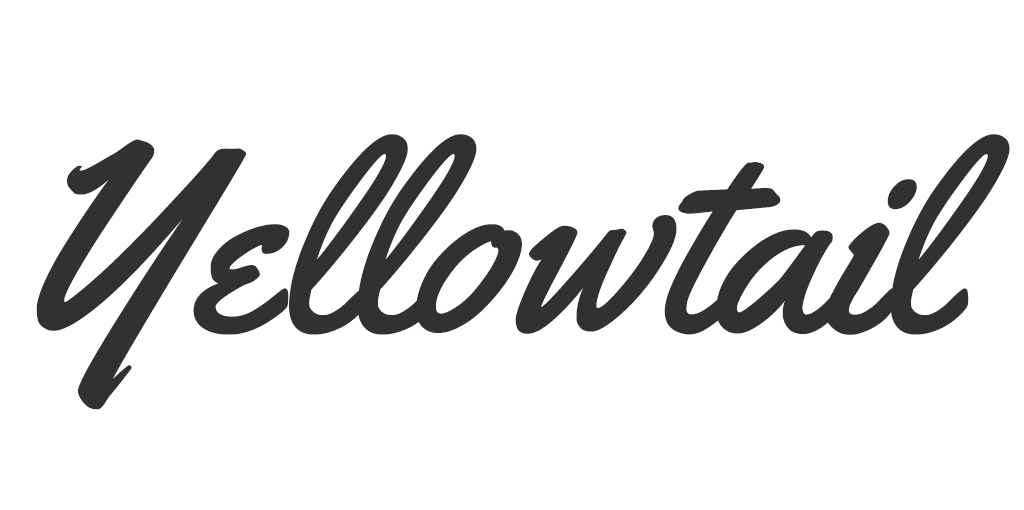 Vintage/Retro lettertype - Yellowtail