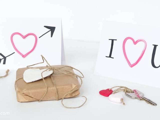 DIY valentijnshartjes van FIMO klei | Maak Valentijnshartjes van FIMO klei voor op een lief kaartje of als sleutelhanger!