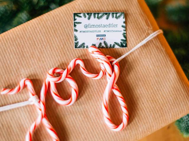 Kerstdecoratie maken met FIMO klei | Maak leuke kerstdecoratie met FIMO klei of decoreer je kerstcadeautjes