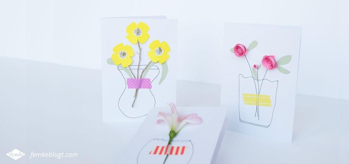 diy  maak je eigen bloemenkaart