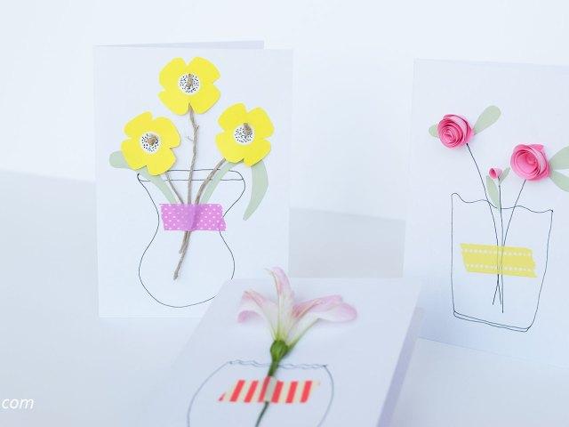 DIY Moederdag bloemen kaart | Maak je eigen kaart met fleurige bloemen voor Moederdag, met deze simpele DIY