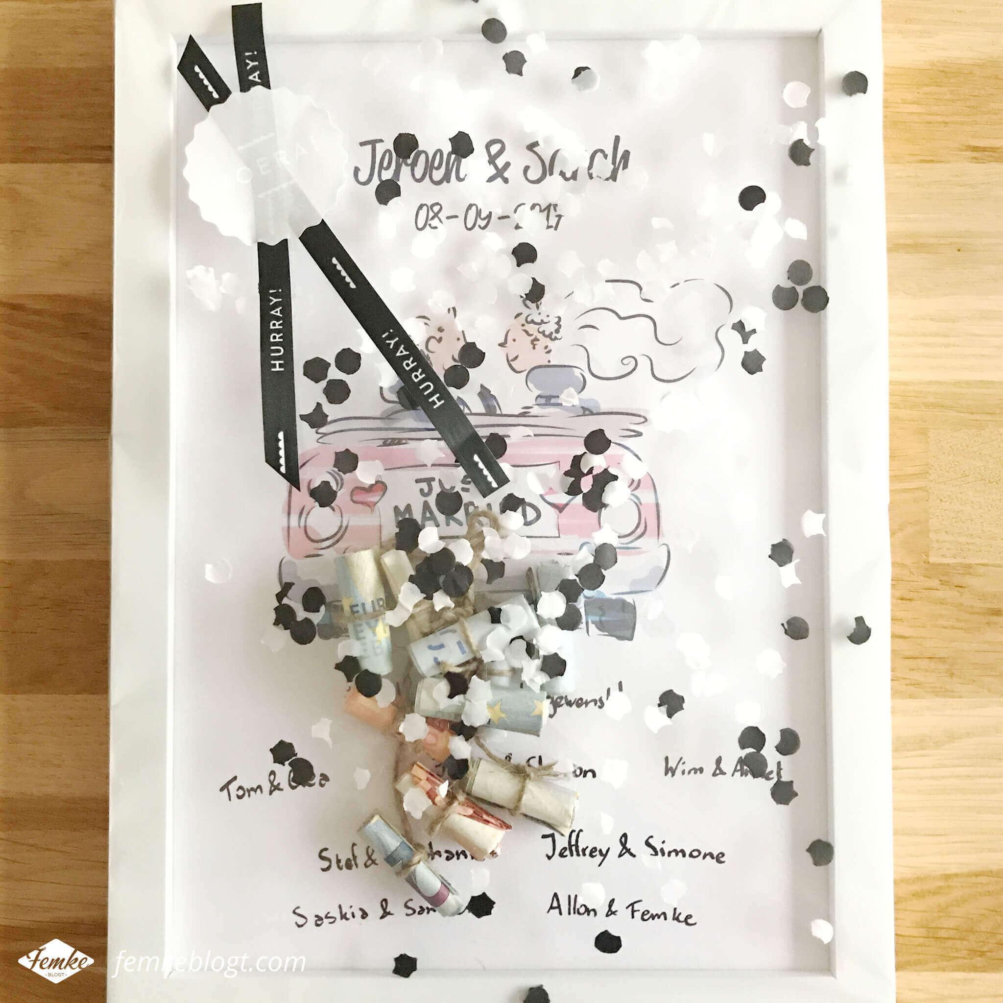 Maandoverzicht september | DIY cadeau voor bruiloft