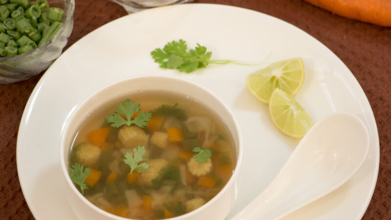 Lemon Coriander soup for weight loss