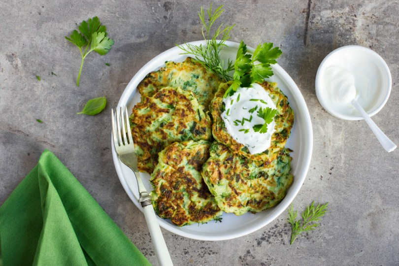 Offbeat monsoon special fritters recipe - Zucchini fritters