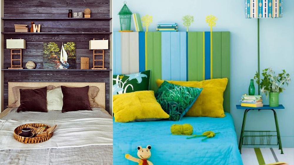 Une tte de lit en palette colore