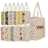 Designer Patterned Gusset Canvas Tote Bag, Custom logo ...