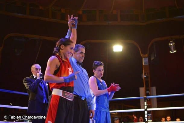 Boxing Beats - Mars 2015 - Fatima Elkabouss déclarée vainqueur face à Scoura Brahimi.