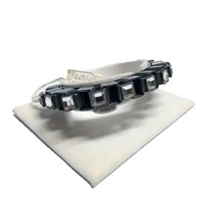Aski – Bracciale Semicerchio Metallo Con Cristalli Bianco