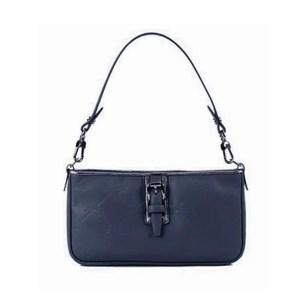 Longchamp – Pochette Pelle Lm Cuir Blue Navy