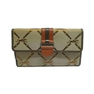 Longchamp – Portafoglio Tessuto Lm Jacq 6 c/c Beige