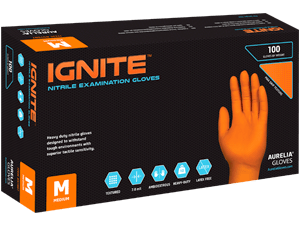 Aurelia Ignite Heavy Duty Nitrile Gloves Medium