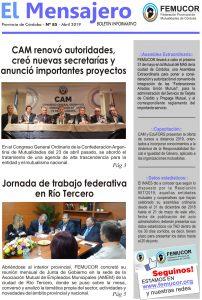 Tapa El Mensajero Femucor Abr2019