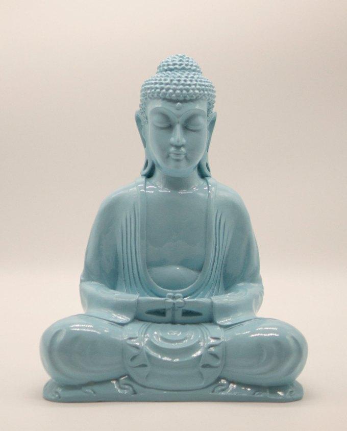 Βούδας ρητίνη ύψος 30 cm γαλάζιος