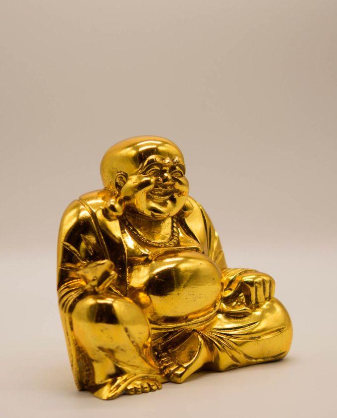 Βούδας ρητίνη χαμογελαστός ύψος 20 cm χρυσός