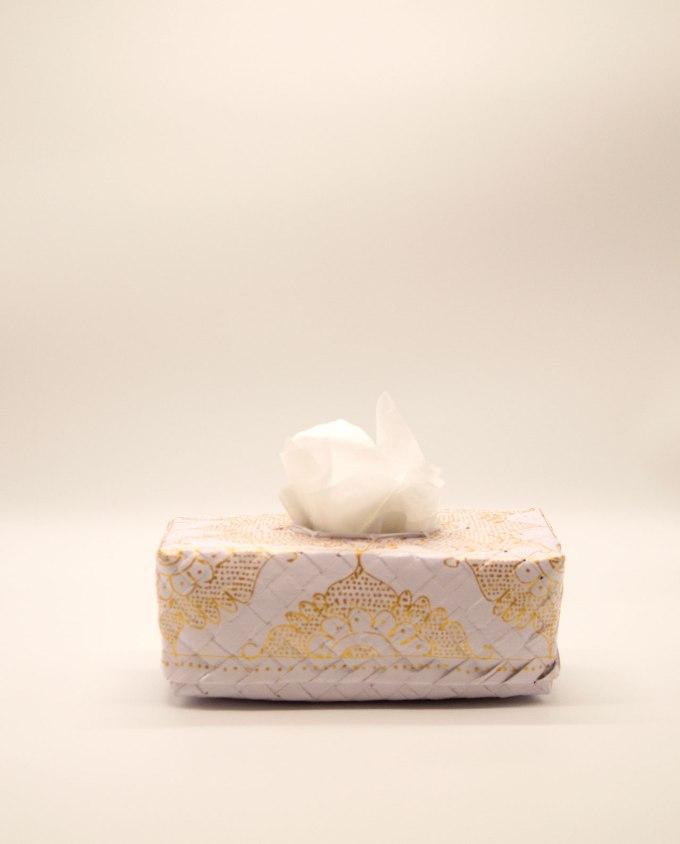 Κουτί χαρτομάντηλών χειροποίητο άσπρο