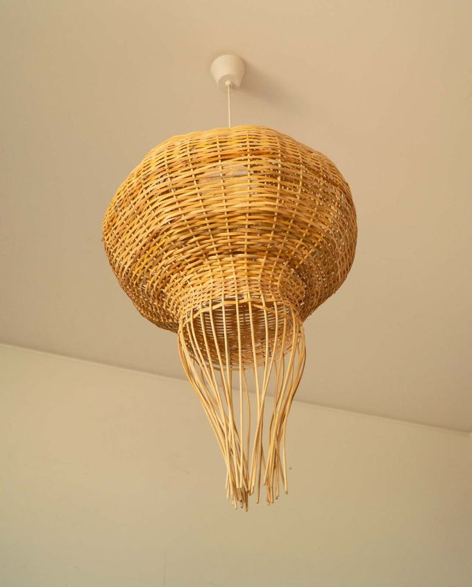 Lamp rattan handmade diameter 85 cm