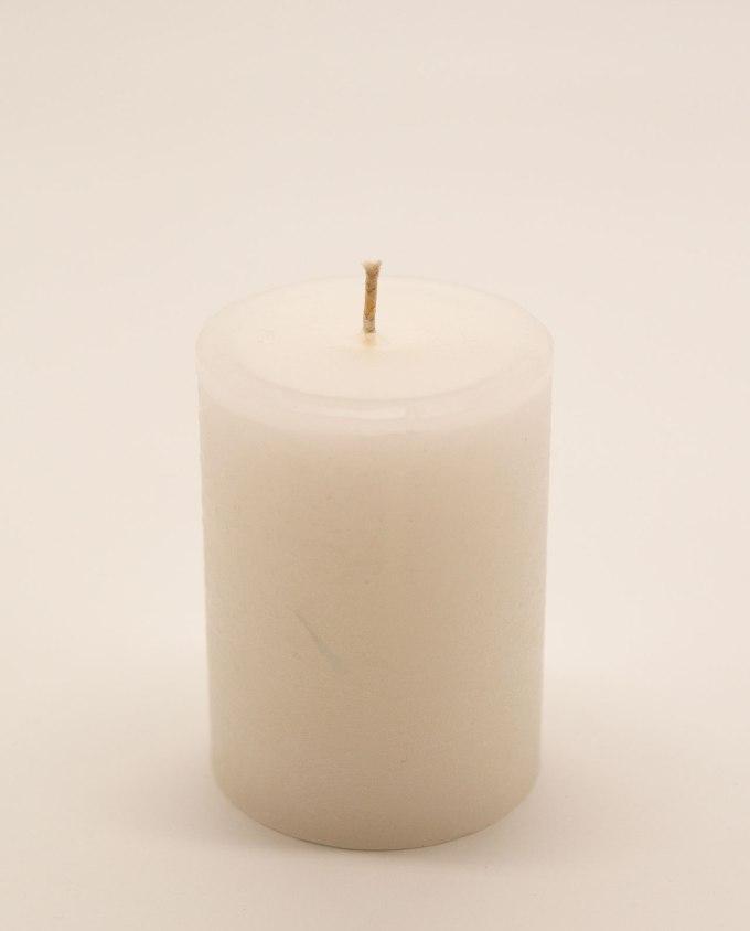 Κερί άσπρο αρωματικό ρουστικ διαμέτρου 7 cm, υψους 10 cm