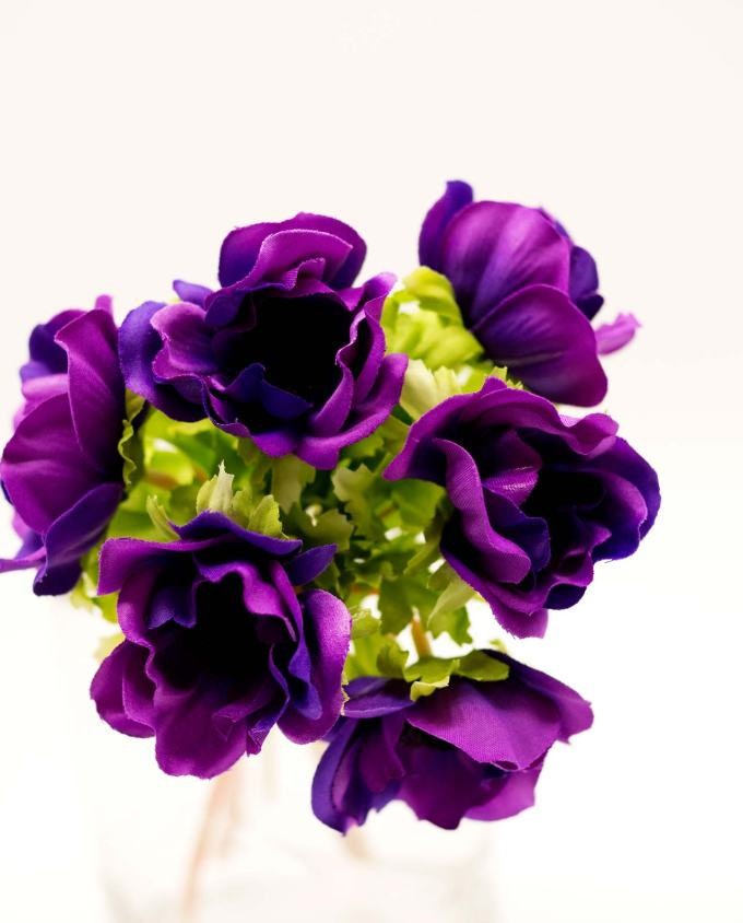 Bouquet of artificial purple Anemones