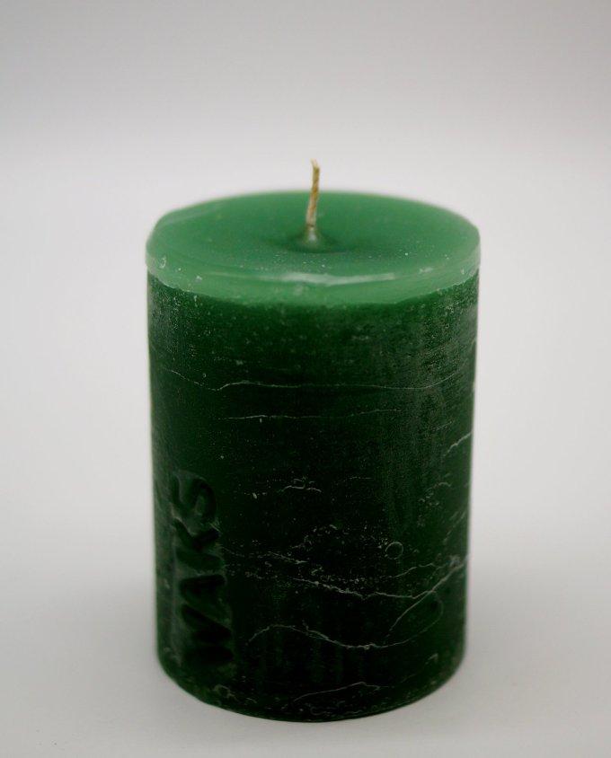 Κερί ρουστικ αρωματικό διαμέτρου 7 cm, ύψους 10 cm, χρώμα πράσινο σκούρο