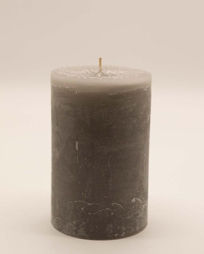 Κερί γκρι μασιφ, διαμέτρου 10 cm, ύψος 15 cm