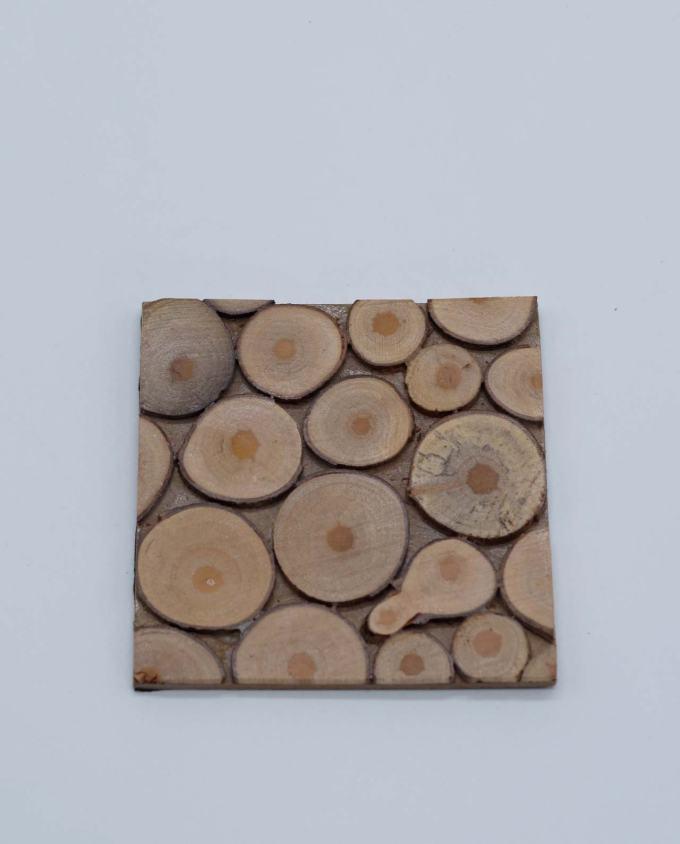 Σουβέρ ξύλινο τετράγωνο χειροποίητο