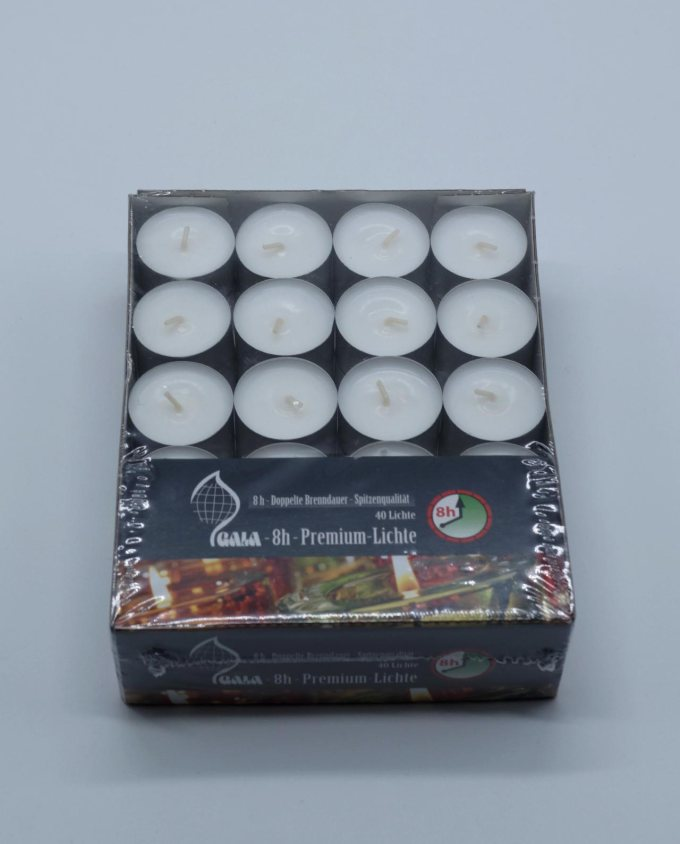 Tealight box 40 pieces burning time 8 hours