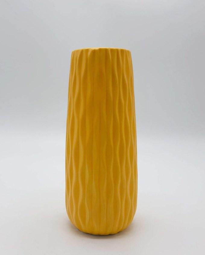 Βαζό κεραμικό κίτρινο Sixties ύψος 24 cm